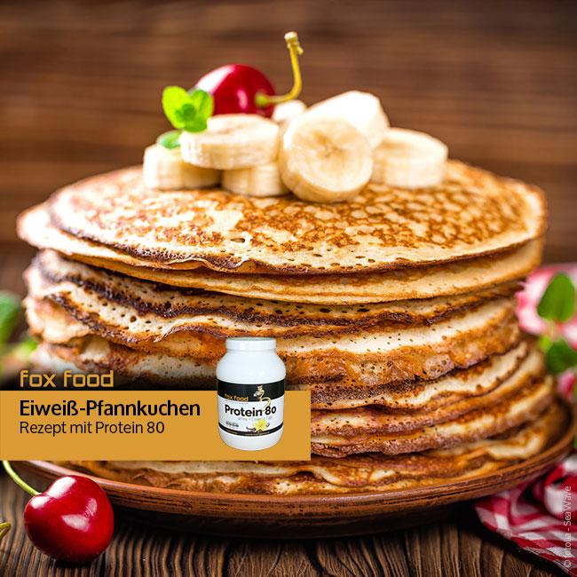 Eiweiß-Pfannkuchen mit Protein 80